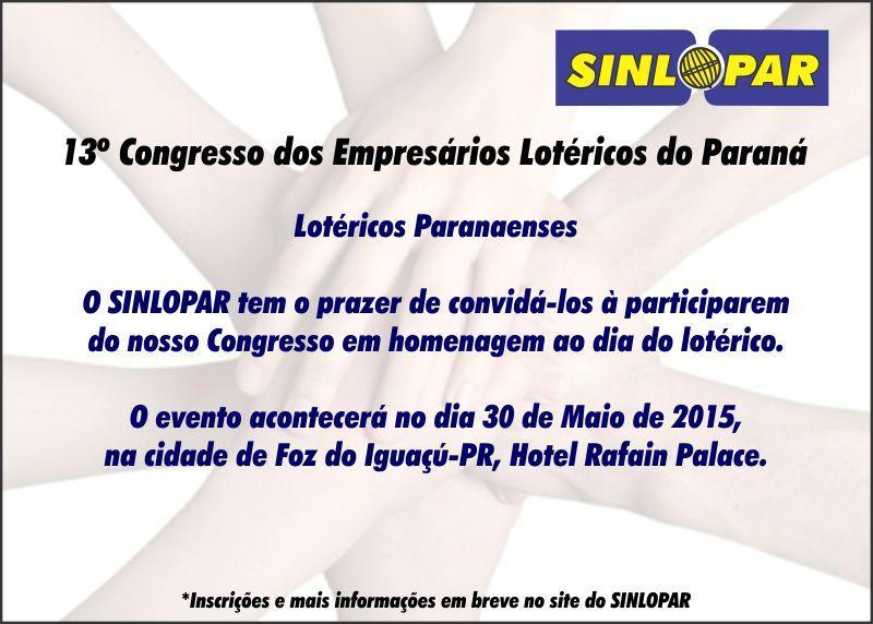 Convite - SINLOPAR